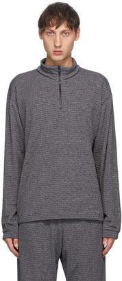 GR10K Grey Polartec Power Grid Mountain Corpus Long Sleeve Polo