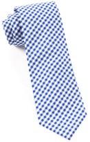 The Tie Bar Royal Blue Novel Gingham Tie