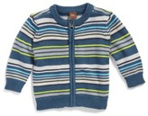 Tea Collection Infant Boy's Gavin Stripe Zip Cardigan