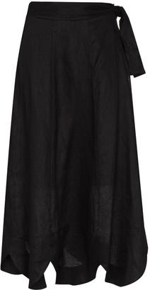 Zimmermann Riders scalloped-hem wrap skirt