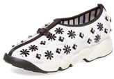 Christian Dior Floral Mesh Slip-On Sneaker