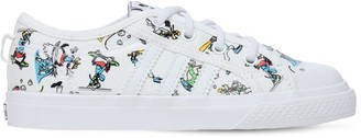 adidas Disney Print Canvas Lace-up Sneakers