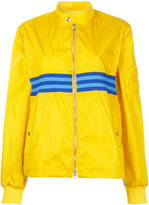 Moncler striped bomber jacket - women - Polyamide - 1