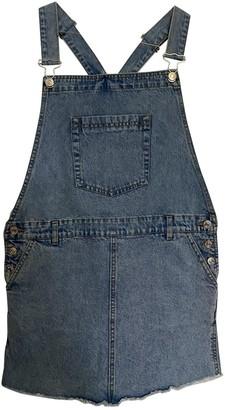 MANGO Blue Denim - Jeans Jumpsuit for Women