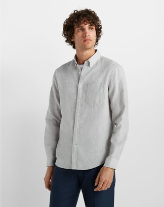Club Monaco Slim Jaspe Linen Shirt