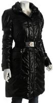 black shiny 'Laque De Ville' down coat