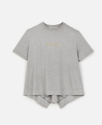 Stella McCartney gold logo t-shirt