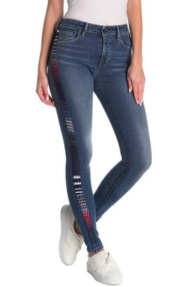 Levi's 721 Striped Skinny Jeans
