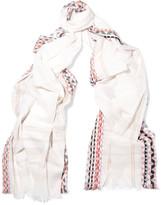 Maje Cotton-voile scarf