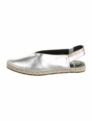 Pierre Hardy Leather Espadrilles Silver