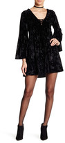 Angie Velvet Lace-Up Dress