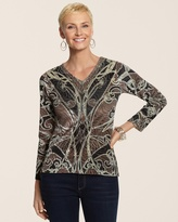 Chico's Sequin Luxe Daisey Top
