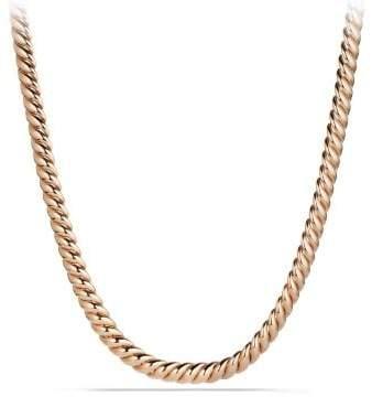 David Yurman Hampton Cable Link Necklace In 18K Rose Gold