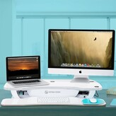 "PowerPro Versadesk Electric Height Adjustable Standing Desk. Versa Tables Color: Black, Size: 36"" W x 24"" D"