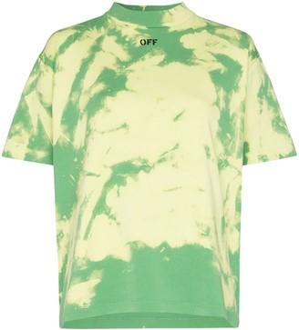 Off-White logo-print tie-dyed T-shirt