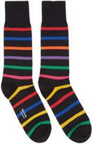 Paul Smith Black Bright Stripe Socks