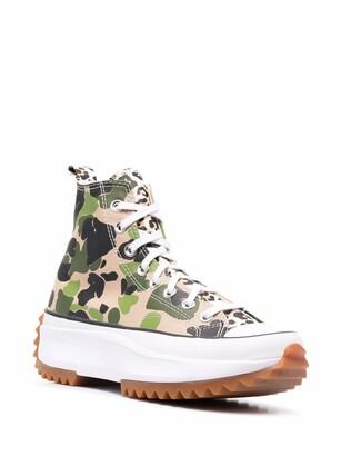 Converse Run Star Hike camouflage-print sneakers