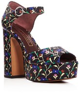 Marc Jacobs Dolls Sky Snake-Embossed Platform High Heel Sandals