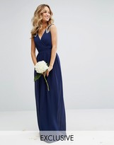 TFNC WEDDING Wrap front Maxi Dress with Embellishment