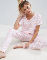 Asos Barbie Logo Tee & Legging Pajama Set