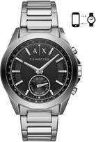 Armani Exchange Men's Connected Stainless Steel Bracelet Hybrid Smart Watch 44mm