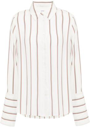 Frame Striped Silk-satin Shirt