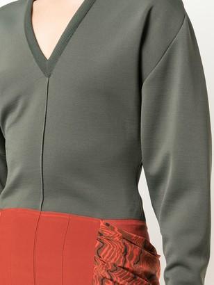 Chloé Two-Tone Ruffle Dress