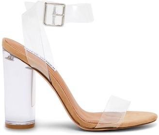 Steve Madden Gavina Clear Block-Heel Sandals