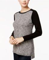 Kensie High-Low Colorblocked Sweater