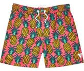 River Island Boys pink pineapple print swim shorts