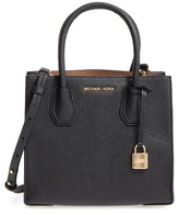 MICHAEL Michael Kors Medium Mercer Leather Crossbody Bag - Black
