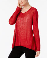 Eileen Fisher Petite High-Low Sweater