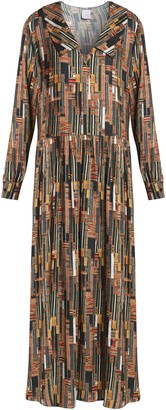 Stella Jean Printed Jersey Maxi Dress