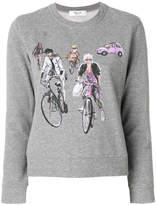Blugirl bike print sweatshirt