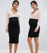 Asos Over The Bump Jersey Skirt 2 Pack In Mini And Midi Length