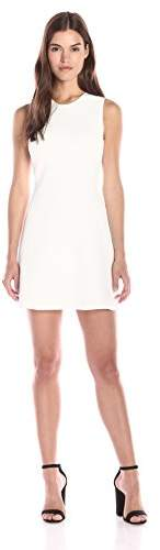Theory Women's Branteen Glossed Fit and Flare Dress