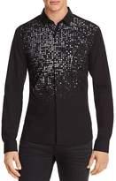 HUGO ERO3 Ombré Micro-Printed Long Sleeve Button-Down Shirt