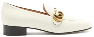Gucci Marmont Gg Leather Loafers - Cream