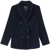Vanessa Seward X La Redoute Collections Velvet Double-Breasted Blazer with Pockets