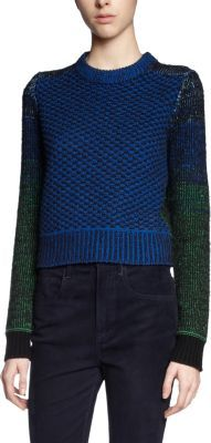 Proenza Schouler Cropped Ombre Sleeves Sweater