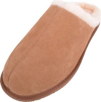 SNUGRUGS Mens Newbury Sheepskin Mule Rubber Sole Open Back Slippers