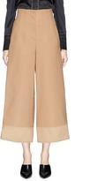 3.1 Phillip Lim Mock button cuff corset back crepe cady culottes