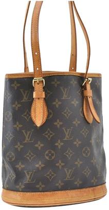 Louis Vuitton Bucket Brown Cloth Handbags
