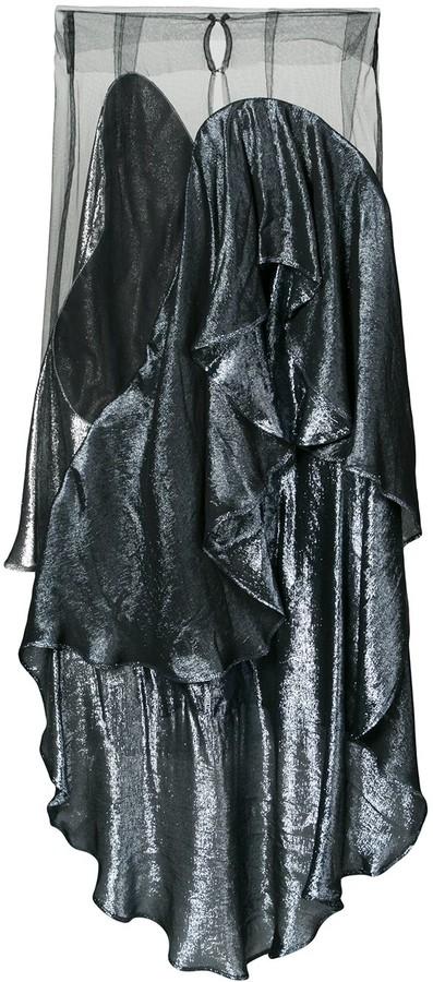 Paula Knorr Panelled Draped Skirt