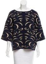 Diane von Furstenberg Brocade Knit Sweater
