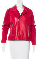 Zac Posen Zip-Accented Leather Jacket