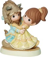 Precious Moments Precious Moments, Disney Showcase Collection, You Are My Fairy Tale Come True, Beauty And The Beast, Bisque Porcelain Figurine, 161013