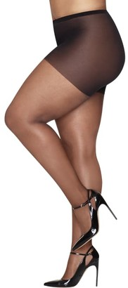 Hanes Plus Size Curves Ultra Sheer Control Top Pantyhose