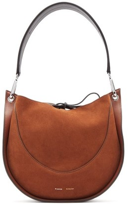 Proenza Schouler Arch Small Suede And Leather Shoulder Bag - Brown
