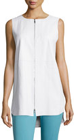 Lafayette 148 New York Athena Two-Zip Leather Vest